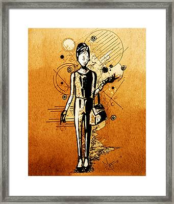 Chic Girl Framed Print by Mayra Ortiz