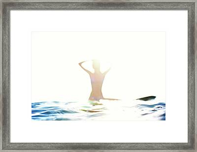 Chica Agua Framed Print