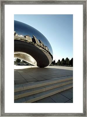 Chicago - Cloud Gate Reflection Framed Print by Dmitriy Margolin