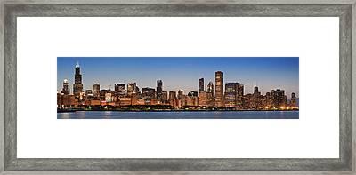 Chicago 2011 Skyline Framed Print by Donald Schwartz