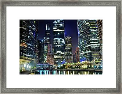Chicago 2017 Full Moon Framed Print