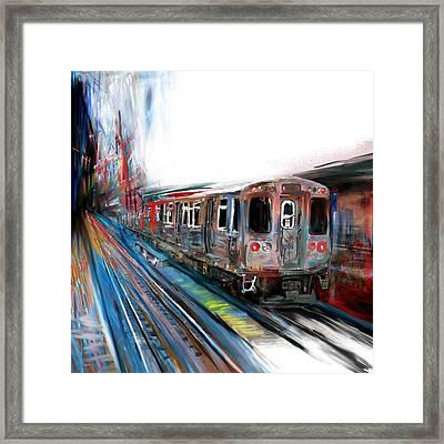Chicago 212 1 Framed Print by Mawra Tahreem