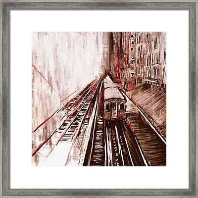 Chicago 214 3 Framed Print by Mawra Tahreem