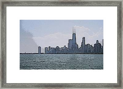 Framed Print featuring the photograph Chicago Across Lake Michigan by Skyler Tipton