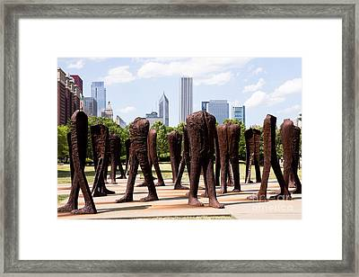 Chicago Agora Headless Statues Framed Print by Paul Velgos