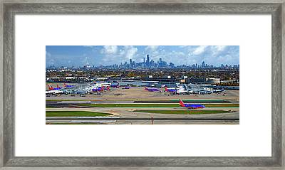 Chicago Airplanes 01 Framed Print by Thomas Woolworth
