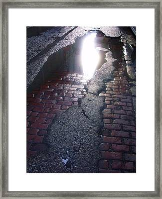 Chicago Alley I Framed Print by Anna Villarreal Garbis