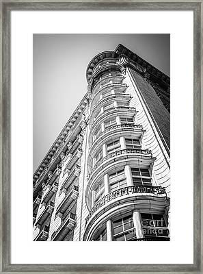 Chicago Architecture Black And White Photo Framed Print by Paul Velgos