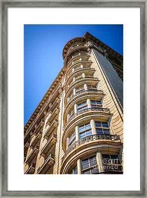 Chicago Architecture Of An Old Stone Building Framed Print by Paul Velgos