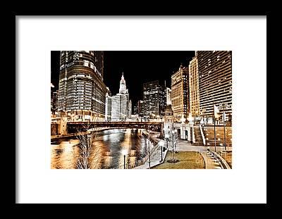 Wabash Avenue Framed Prints