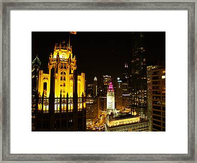 Chicago At Night  Framed Print by Jacob Stempky