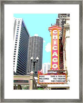 Chicago Framed Print by Audrey Venute