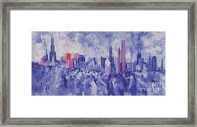 Chicago Framed Print by Bayo Iribhogbe
