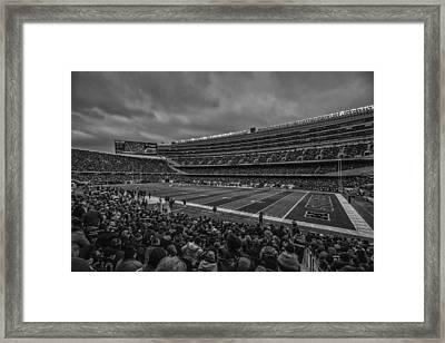 Chicago Bears Black White 7858 Framed Print