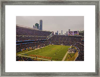 Chicago Bears Soldier Field 7759 Framed Print by David Haskett