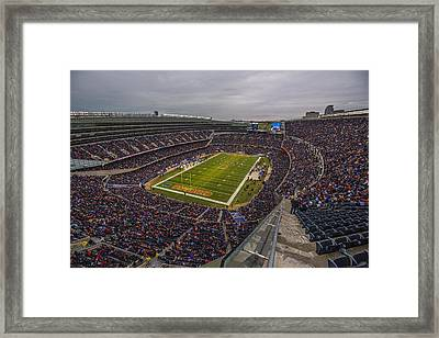 Chicago Bears Soldier Field 7790 Framed Print by David Haskett