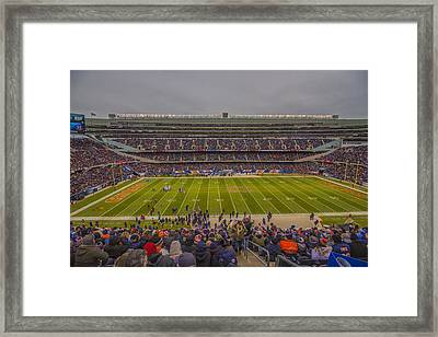 Chicago Bears Soldier Field 7818 Framed Print by David Haskett