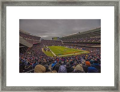 Chicago Bears Soldier Field 7837 Framed Print by David Haskett
