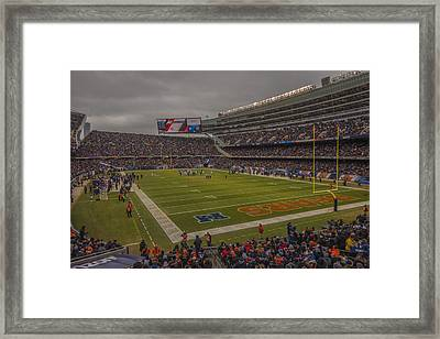 Chicago Bears Soldier Field 7848 Framed Print by David Haskett