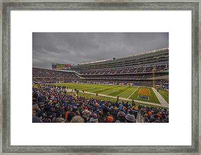 Chicago Bears Soldier Field 7858 Framed Print by David Haskett