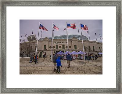 Chicago Bears Soldier Field 7861 Framed Print by David Haskett