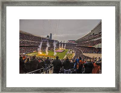 Chicago Bears Soldier Field National Anthem 7745 Framed Print by David Haskett