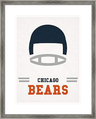 Chicago Bears Vintage Art Framed Print by Joe Hamilton