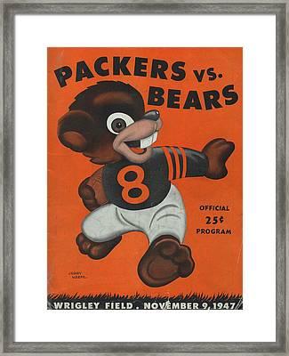 Chicago Bears Vintage Program 6 Framed Print by Joe Hamilton