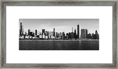 Chicago Black And White Framed Print by Donald Schwartz