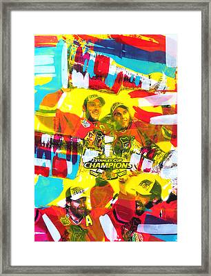 Chicago Blackhawks 2015 Champions Framed Print by Elliott From
