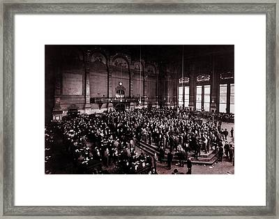 Chicago Board Of Trade 1900 Framed Print