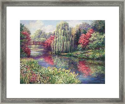 Chicago Botanical Garden Framed Print by Laurie Hein