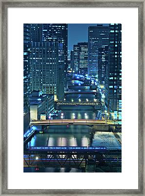 Chicago Bridges Framed Print by Steve Gadomski
