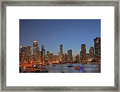 Chicago Bright Framed Print by Andrea Simon