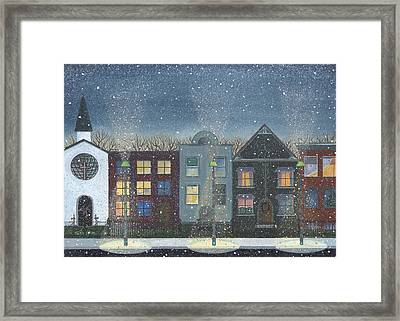 Chicago Brown Stones Framed Print by Thomas Griffin