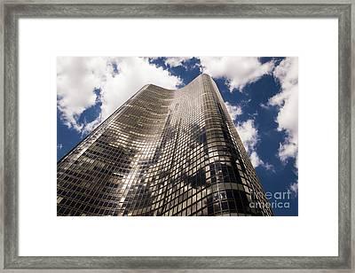 Framed Print featuring the photograph Chicago Building by Zawhaus Photography