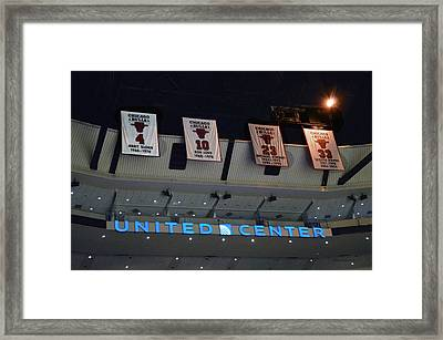 Chicago Bulls Retired 4 10 23 33 Framed Print