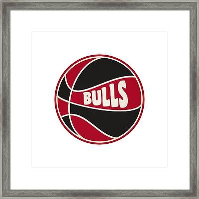 Chicago Bulls Retro Shirt Framed Print
