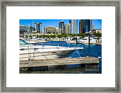 Chicago Burnham Harbor Boats Framed Print
