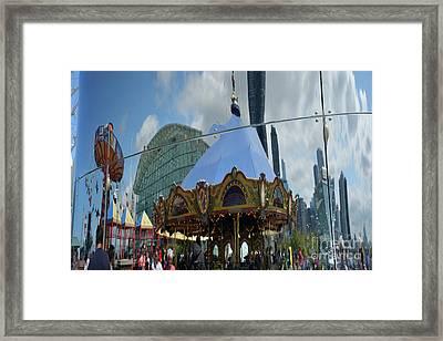 Chicago Carousel Framed Print by Andrea Simon