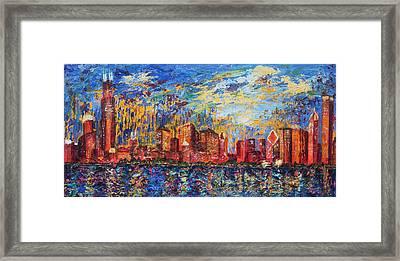 Chicago City Scape Framed Print