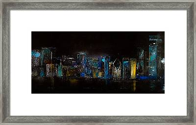 Chicago City Scene Framed Print