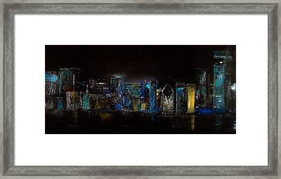 Chicago City Scene Framed Print by Michele Carter