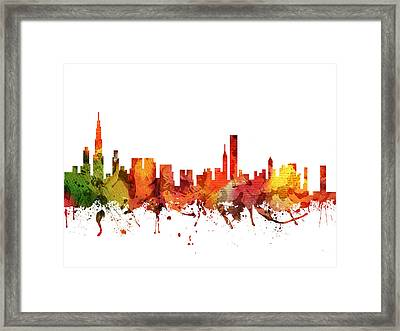 Chicago Cityscape 04 Framed Print by Aged Pixel