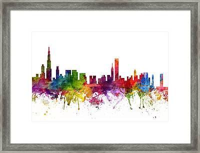 Chicago Cityscape 06 Framed Print by Aged Pixel
