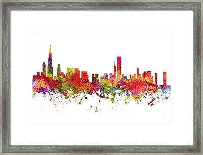Chicago Cityscape 08 Framed Print by Aged Pixel