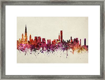 Chicago Cityscape 09 Framed Print by Aged Pixel