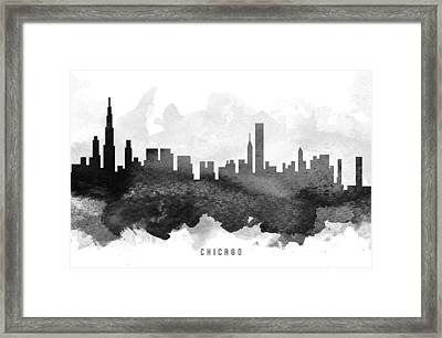 Chicago Cityscape 11 Framed Print by Aged Pixel