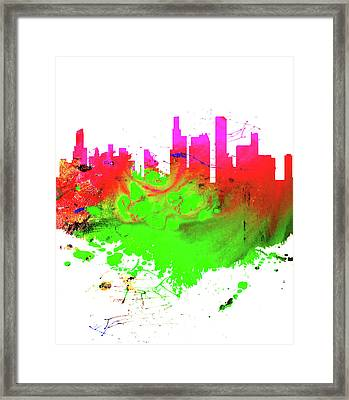 Chicago Cityscape 1a Framed Print