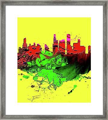 Chicago Cityscape 1b Framed Print